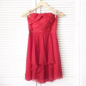 Jessica McClintock Red Strapless Cocktail Dress